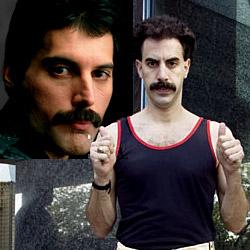 Borat plays Freddie