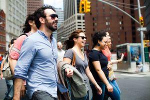 Power walkin' in Lower Manhattan