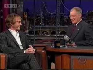 "Warren's last appearance on Letterman. When asked how to approach death, he said, ""Enjoy every sandwich."""