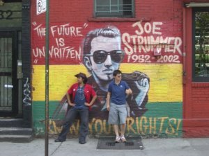 Strummer mural on 7th and A.